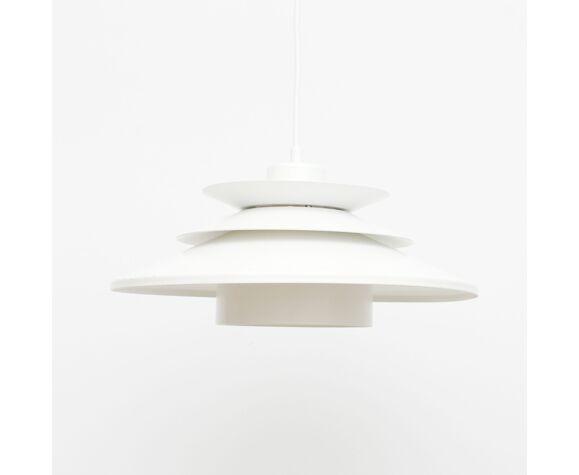 White pendant lamp, Denmark 1970s