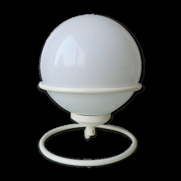 Lampe ampoule vintage sur support métal 1980