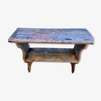 Rustic vintage peasant shelf