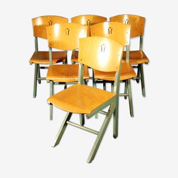 6 Chaises Design Estampillées Baumann