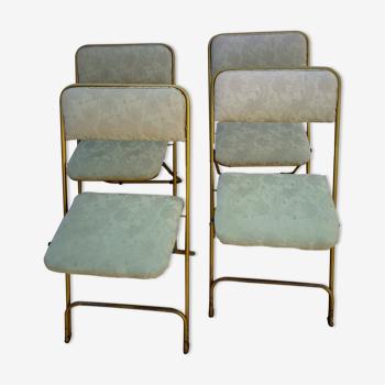 4 chaises pliantes vintage Lafuma Chantazur
