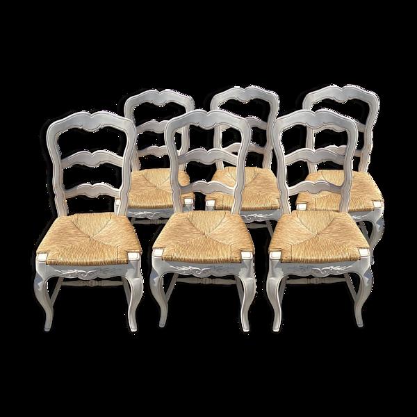Selency Set de 6 chaises Romance Country corner
