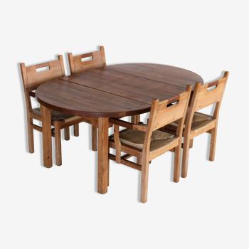 4 chaises et table GM Mobler