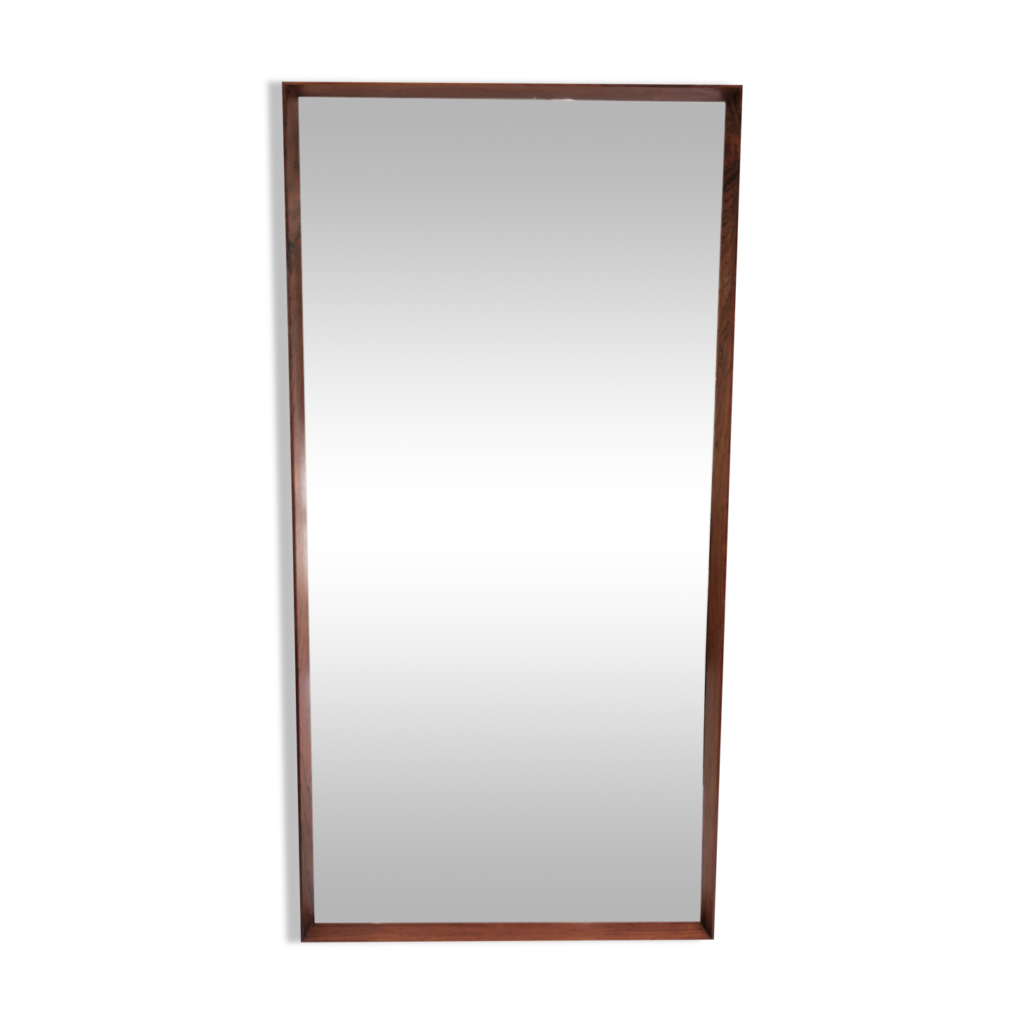 Miroir en palissandre de design danois des années 1960 112x56cm
