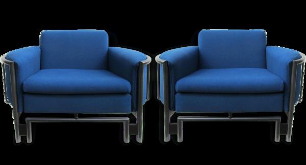 Postmodern armchairs, Lounge chiars, 1980 s, set of 2