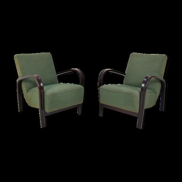 Selency Paire de fauteuils design du milieu du siècle par Arch. Kropacek et Kozelka, années 1950