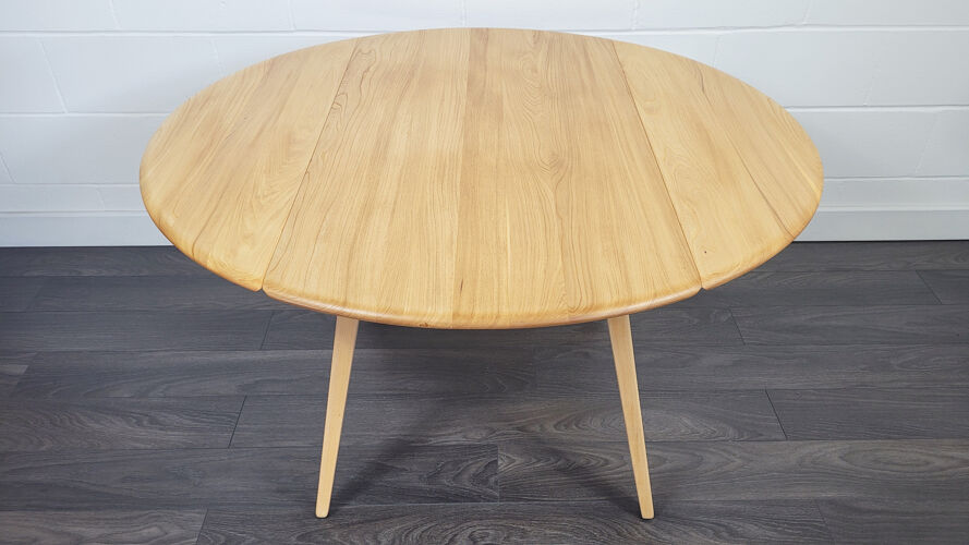 Table à manger à feuilles rondes Ercol, années 1960 - No.12