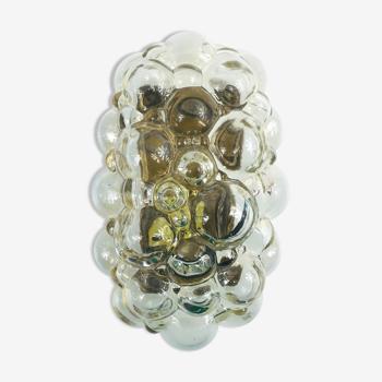 Lampe murale en verre à bulles du milieu du siècle par Helena Tynell pour limbourgeois, années 1960