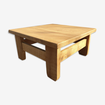 """Table basse brutalisme 1960 """"square in the rough"""""""