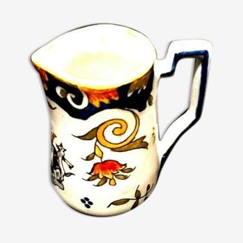 Pichet broc à lait Faïence de Boulogne-sur- Mer  Jules Verlingue années 1920
