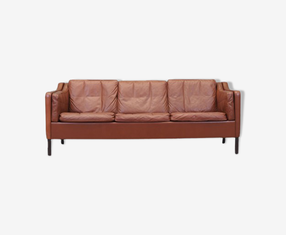 Leather sofa, Danish design, 70's, made by Mogens Koch