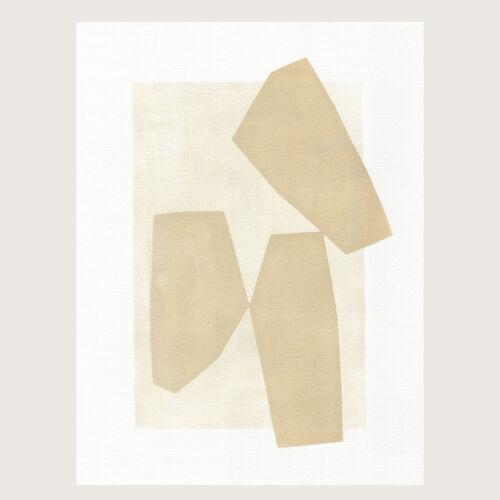 Peinture sur papier illustration abstraite datée et signée Eawy sans cadre M270