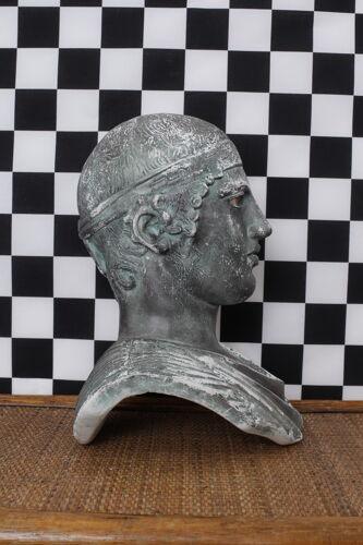 Sculpture tête buste romain en plâtre