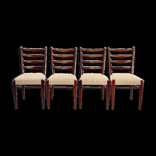 Selency 4 chaises ST09 de Cees Braakman pour Pastoe