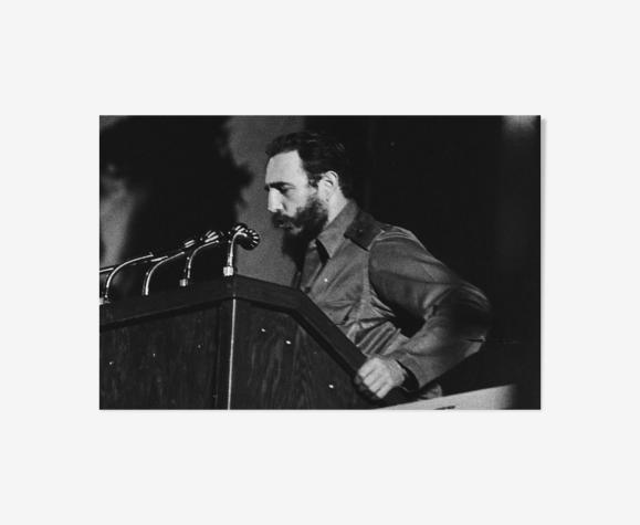 Photo argentique Fidel Castro Che Guevara Meeting papier baryté format 30x45cm