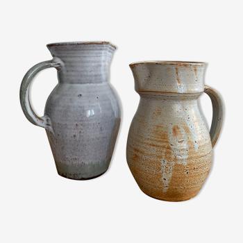 Duo de pichets céramique vintage