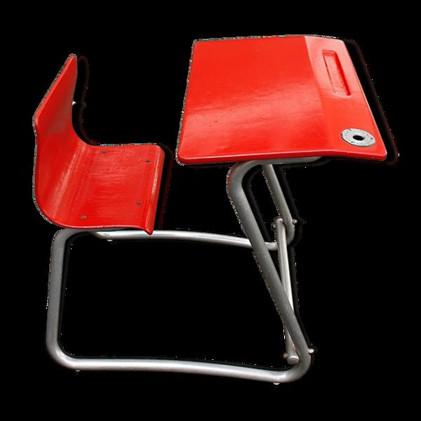 Bureau rouge pour enfants des années 50