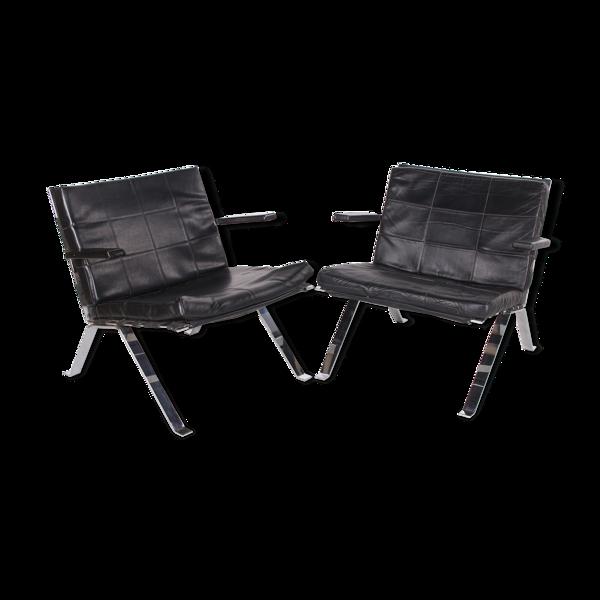 Selency Ensemble de 2 fauteuils par Hans Eichenberger pour Girsberger, années 1960