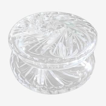 Bonbonnière ancienne en cristal ciselé