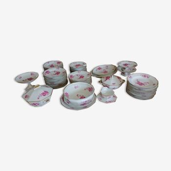 Service de table 81 pièces en  porcelaine Limoges