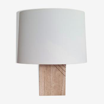 Vintage lamp in travertine