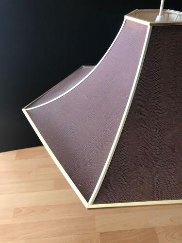 Suspension marron simili cuir