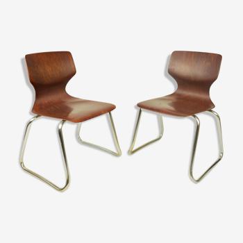 Paire de chaises Flototto, A. Stegner, années 1970
