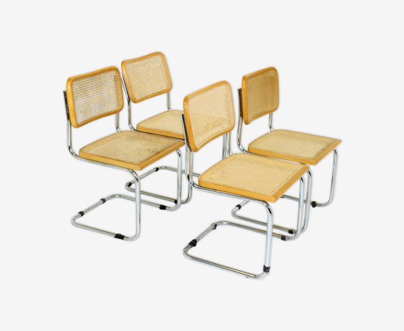 """Set de 4 chaises """"S32"""" Marcel Breuer, Italie, 2001"""