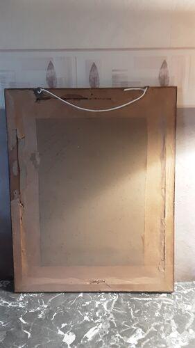 Tableau ancien sous verre - signé