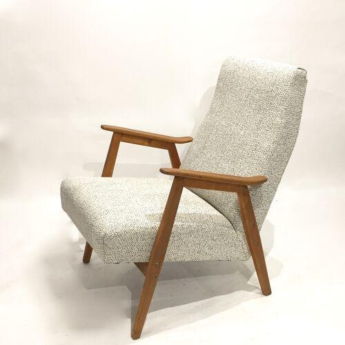 Pair of 60s retaped armchairs