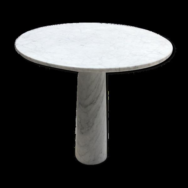 Selency Table a manger en marbre blanc de Carrare