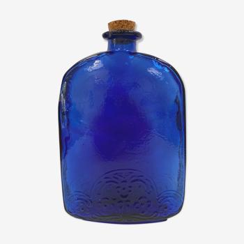 Vintage cobalt blue glass bottle