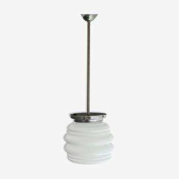 Lampe en verre blanc 1960