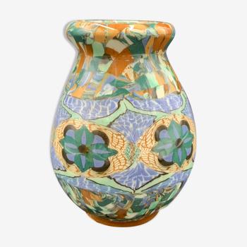 Vase ovoïde mosaïque Gerbino 19, Vallauris
