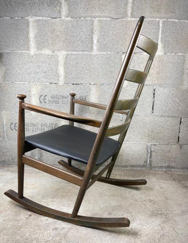 Rocking-chair vintage scandinave