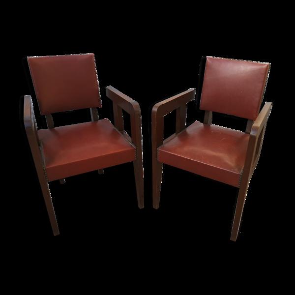 Selency Paire de fauteuils Andre Sornay