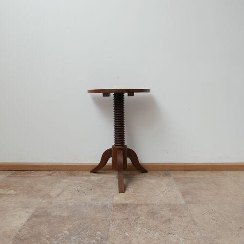 Paire de tables d'appoint demi-lune du milieu du siècle