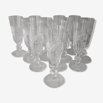 12 flûtes à champagne Trianon, St. Louis