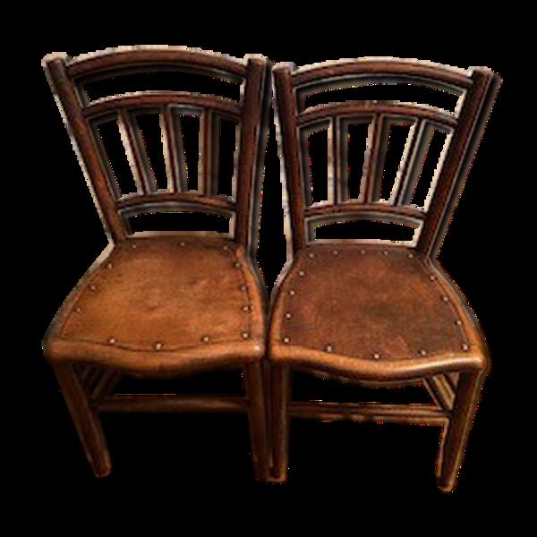Lot de 2 chaises en bois