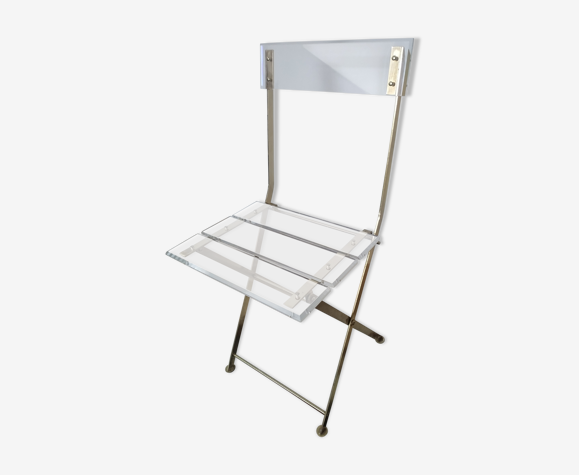 Chaise pliante plexiglass Marais International