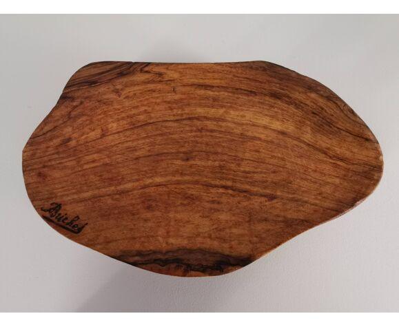 Vide poche en bois sculpté signé années 60