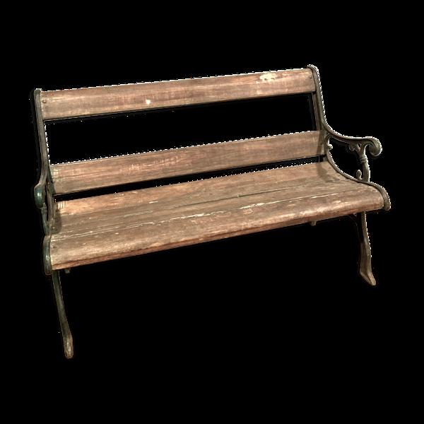 Banc en bois et fonte de fer