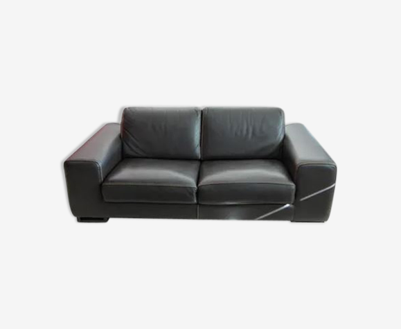 Sofa 3 places convertible roche bobois model chocolate