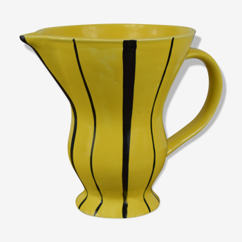 Pichet en céramique de Sarreguemines Digoin Revernay  1960