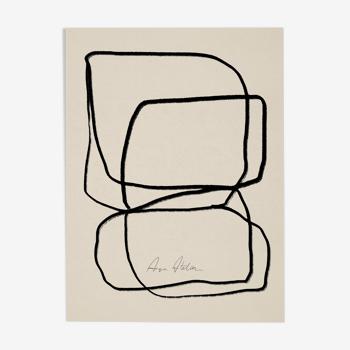 Lignes abstraites impression giclée 50x70cm