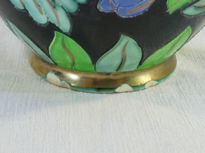 Vase en céramique signé Cerart Monaco vintage