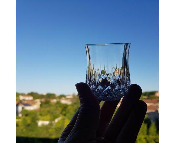 Lot de 6 petits verres gobelet en cristal digestif apéritif