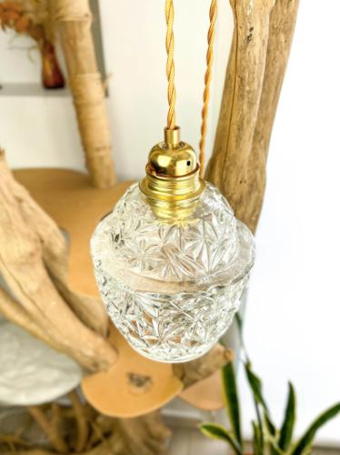 Baladeuse globe verre vintage