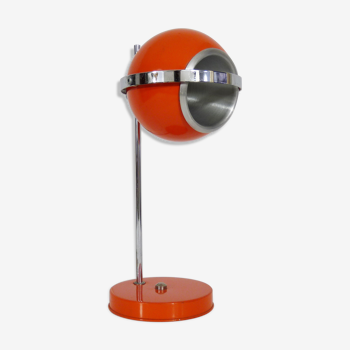 Lampe de bureau eyeball orange globe orientable année 60 70