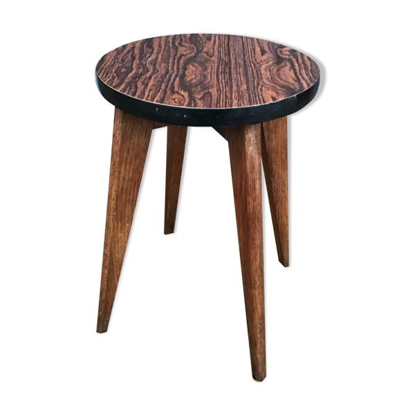 Guéridon formica petite table basse vintage scandinave